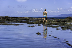blue (Greg Rohan) Tags: reflection clouds girl lady people sky saltwater rocks summer water blue southcoast nswnationalpark nationalpark nikkor nikon 2018 d750