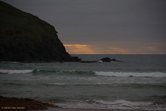 3KB11377a_C (Kernowfile) Tags: pentax cornwall cornish poldhucove thelizardpeninsula beach sand water waves foam rocks cliffs sea sky dusk cloud