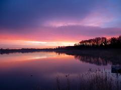 Aube I (Daniel_Hache) Tags: saclay soleil daniel hache sunset coucher etang pont essonne france fr