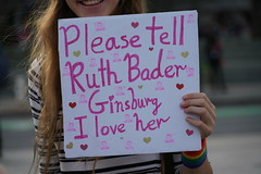 Woman's March 2019 (Lynn Friedman) Tags: smile sign ruthbaderginsburg womansmarch politics gender equality resistance sanfrancisco california usa 94102