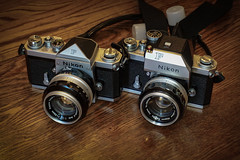 Nikon F Siblings (Earley Photography) Tags: nikonf photomic film analog camera nikkor f14