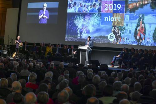 Cérémonie de vœux du Maire de Niort Jérôme Baloge à la population niortaise.