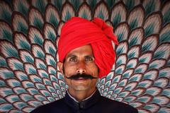 Palace Guard (HWHawerkamp) Tags: jaipur india travel colours patterns palace guard portrait