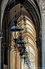 Laternen  / Lanterns (Mike Reichardt) Tags: laternen lanterns architecture architektur cityscape stadt vienna wien dwwg details minimalism minimal minmalism austria österreich lessismore n o p q r s travel reise urbanarchitecture