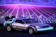Delorean (kofiskingley) Tags: product lighting studio setup 80s synth glow delorean bttf back to the future neon time machine