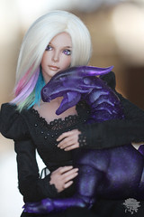 Dangerous Pet (redmaiko) Tags: fairyland bjd chicline msd ena tan cuartosdolls darkhorn purple