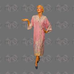 1920s 1930s Pink Japanese Japonisme Kimono Robe, Rayon, Printed, Damask (Rickenbackerglory.) Tags: vintage 1920s 1930s siegel mannequin pink japanese japonisme kimonorobe rayon damsak nightwear loungewear beachwear
