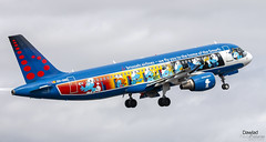 Airsmurf (Dawlad Ast) Tags: aeropuerto internacional tenerife sur south international airport islas canarias canary island spotting avion plane airplane aircraft tfs febrero february 2019 españa spain airbus 320214 oosnd brussels airlines sn 1838 airsmurf a320 320 despegue takeoff take off pitufos
