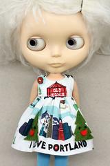 Little Beirut (Button Arcade) Tags: artfire buttonarcade blythe dress pockets wool felt