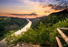 """""""Kleine-Bastei"""", Saxon Switzerland (Uwe Kögler) Tags: saxony sachsen sächsischeschweiz sunset sonnenuntergang elbsandsteingebirge elbe aussicht abend schrammsteine tafelberge lilienstein landscape landschaft germany deutschland wolken schmilka"""
