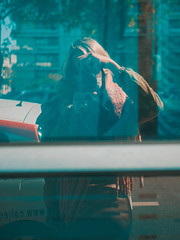 P1000636 (rozenn.rgr) Tags: camera lumixgx80 lumixgx85 lut brest bretagne girl panasonic lumix 25mm 25mmf17 city reflect reflection mirror 43 m43 micro43 lumixg blond spring converse autoportrait sun woman