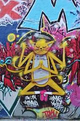 IMG_1089 rue Dénoyez Paris 20 (meuh1246) Tags: streetart paris ruedénoyez paris20 belleville animaux chat