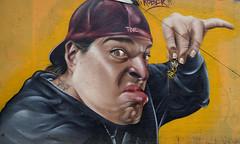 Graffiti - Xochimilco, Mexico (chriskatsie) Tags: mexique mexico tag streetart street rue art travel voyage paint peinture insect wasp bee abeille insecte