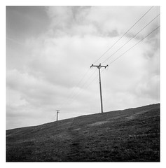 FILM - Over the hill (fishyfish_arcade) Tags: 6x6 analogphotography filmphotography filmisnotdead istillshootfilm shanghaigp3 tlr twinlensreflex yashicamat124g analogcamera film mediumformat landscape powerlines