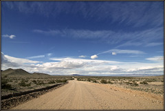 No Gas Stations (2bmolar) Tags: landscape dirtroad sandy mountains desert lesstraveled