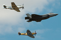 F35A Heritage Flight - RIAT 2018 (Airwolfhound) Tags: riat fairford f35a spitfire p51d mustang