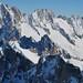 Les aiguilles de Chamonix, Aiguille du Midi, Chamonix-Mont Blanc, Haute-Savoie, Rhône-Alpes, France.