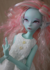 Lichen : preorder from February 14 to March 14 2019 (Le Tama) Tags: bjd ball jointed doll balljointeddoll poupées lichen elf green blue skin pale normal wig urethane eyes blythe ellowyne wilde littlefee minifee shoes high heels preorder depthsdolls depths dolls tama