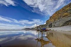 Sleepy (pauldunn52) Tags: beach traeth mawr glamorgan heritage coast wales reflection art paul