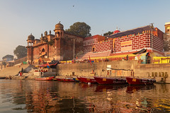 Varanasi, India (Ninara) Tags: varanasi india uttarpradesh ghat ganges ganga gangaaarti sadhu nagasadhu sunrise morning bathing holycity chetsinghghat kashi benares