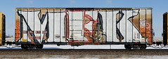 MFK (quiet-silence) Tags: graffiti graff freight fr8 train railroad railcar art mfk wholecar boxcar nokl nokl571008