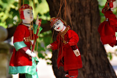 Puppets (Neal J.Wilson) Tags: asia asian puppet souvenirs burma burmese myanmar crafts traditional travel travelling red dolls