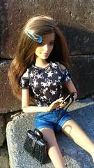 Mom, I love you! (Tee-Ah-Nah) Tags: outside doll barbie phone texting