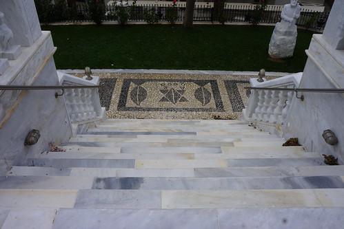 Pebble mosaic, Church of the Holy Trinity and St. John, Falatados, Tinos