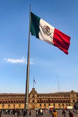 Big Flag (GlobalGoebel) Tags: ciudaddeméxico mexico mx cdmx mexicocity iphone iphoneography iphonex iphone10 zocalo plaza square flag mexican large big tall nationalpalace palacionacional plazadearmas travel travelphotography