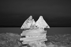 П. 19' (lesozero) Tags: nikond3400 ice snow winter sky frost figure construction dark monochrome