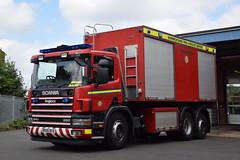 Warwickshire - BX55DCU - PM - Coleshill (matthewleggott) Tags: warwickshire fire rescue service engine appliance coleshill bx5dcu pm prime mover pod scania angloco foam fot