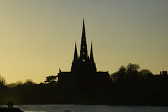 The Cathedral, Lichfield 18/11/2018 (Gary S. Crutchley) Tags: lichfield cathedral stowe pool st chad church virgin mary gothic medieval uk great britain england united kingdom staffordshire staffs west midlands westmidlands nikon d800 history heritage raw of cofe anglican religion christianity faith worship gospel christ