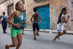 Back to Basics (waterfallout) Tags: kids kidsplaying playing sports kidsplayingsports havana cuba havanacuba running kidsrunning street streetphotography travel travelphotography thesimplelife digitalfree cuban cubans children childrenrunning inthestreets