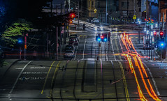 ocean at san jose avenue (pbo31) Tags: bayarea california nikon d810 color january 2019 boury pbo31 black red night dark sanfrancisco city urban westwoodpark citycollege lightstream motion traffic roadway over infinity ingleside muni tracks