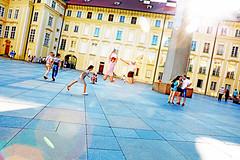 Prague (kirstiecat) Tags: prag prague praha castle flare cinematic lensflare canon street exciting friends jump cinematiclensflare europe light moment energy travel colour color urban city