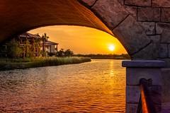 It will shine again (albatta.ihab) Tags: dubai bridge river waterfront water color sunset sun sky skyline archetecture arc art travel tourisme uae