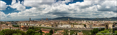 Panoramic view (Ciao Anita!) Tags: firenze florence fi toscana toscane tuscany italia italy italië arno rivier fiume river panorama photomerge stadsgezicht vistadicittà cityview cityscape townview bellitalia friends hm supershot theperfectphotographer