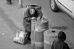 The Hunchback looking for empty bottles. (Capitancapitan) Tags: the hunchback black white neury luciano nyc pentax street photography life el mundo gira people new york city urim y tumim