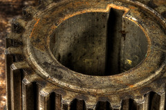Gear (arbyreed) Tags: arbyreed hole macromondaysalternate close closeup gear metal teeth carpart hdr