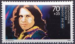 Deutsche Briefmarken (micky the pixel) Tags: briefmarke stamp ephemera deutschland bundespost jugendmarke fürdiejugend rockmusik popmusik musiker jimmorrison thedoors