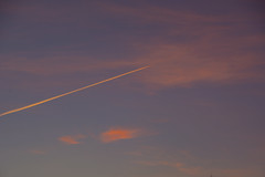 Traveling into a Pink World (Rudi Pauwels) Tags: 2019onephotoeachday sky clouds flying pink pinksky pinkclouds afternoon sunset aircraft