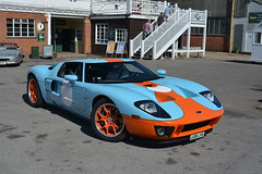 Ford GT (CA Photography2012) Tags: lg06jye ford gt heritage edition v8 supercharged supercar gt40 gulf colours orange blue american muscle car sportscar super sports rare performance ca photography automotive exotic spotting brooklands museum automobile vehicle