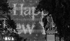 Happy New Year 2019 (Toni_V) Tags: iphone xr iphoneography globus happynewyear leuchtreklame pestalozzi city stadt bw monochrome blackwhite schwarzweiss zurich zürich bahnhofstrasse night nightshot weihnachtsbeleuchtung nacht switzerland schweiz svizzera svizra suisse europe neujahr ©toniv 2018 181230 street sculpture skulptur