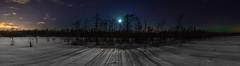 Moonlit Islet (Mygii) Tags: mikkeli finland moon aurora