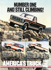 1983 Ford Trucks F100 Pickup 4X4 Bronco II 4X4 Ranger Pickup USA Original Magazine Advertisement (Darren Marlow) Tags: 1 3 4 8 9 19 83 1983 f ford f100 100 4x4 b bronco ii r raanger p pickup c car cool collectible collectors classic a automobile v vehicle u s us usa united states american america 80s