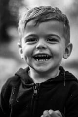 A smile for everyone. (Dazza.Foto) Tags: smile blackandwhiteportrait blackandwhite portrait childrenportrait happychild
