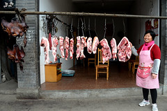Pork shop (MelindaChan ^..^) Tags: datong ancient town 大同古鎮 sichuan china 四川 成都 邛崍市 chanmelmel mel melinda melindachan life house heritage color pattern chinese architecture