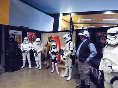 Friendly Fire (Steve Taylor (Photography)) Tags: starwars trooper blaster boy lad men newzealand nz southisland canterbury christchurch addington armageddonexpo armaggedon breastplate costume helmet outfit stormtrooper