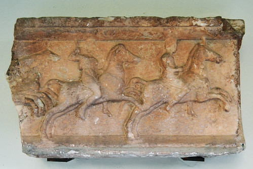Hellenistic relief of galloping riders
