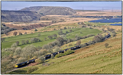 Slowly Does It (Welsh Gold) Tags: 66570 6c94 cwambargoed port talbot coal train taffbargoedwelash valleystaff bargoed valleysouth wales
